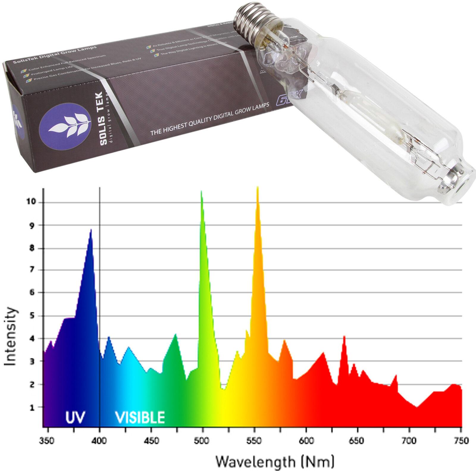 Solistek 600 W Mh se 6K luz lámpara hidropónica de un solo extremo Veg Cultivar Lámpara