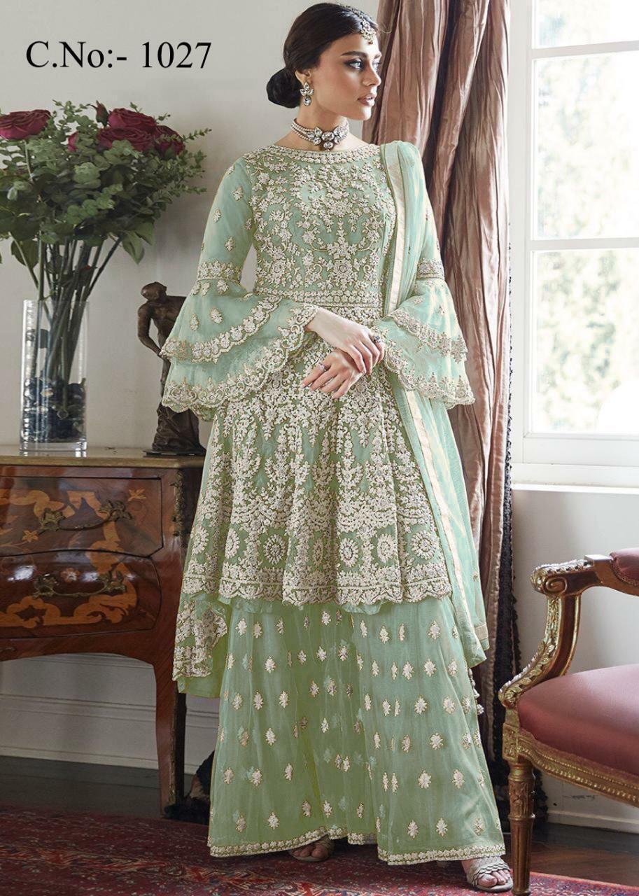 Bollywood Heavy Indian Anarkali Wedding Party Gown Pakistani Salwar Plazzo Suit