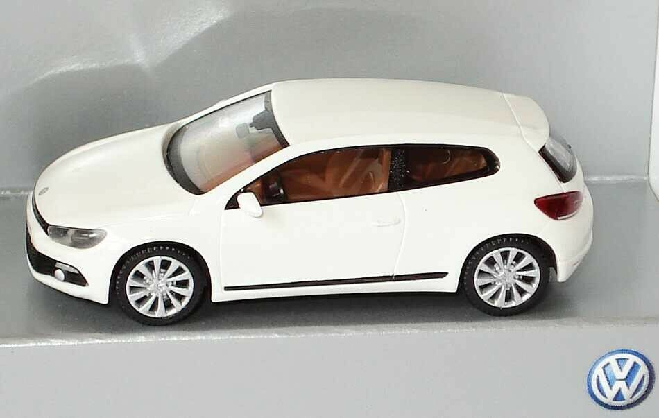 VW Scirocco III 3 2009 GT TSI TDI Candy Blanc 1 87 Wiking (OEM concessionnaire modèle)