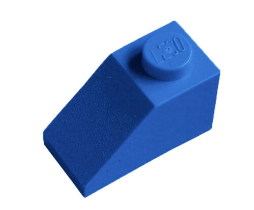 Lego 50 Blue Roof Tiles 1x2 Slope Brick Roof Bricks in Blue New City Basics 3040