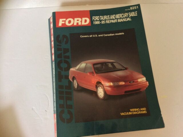 Ford Taurus And Mercury Sable 1986 U201395 Repair Manual