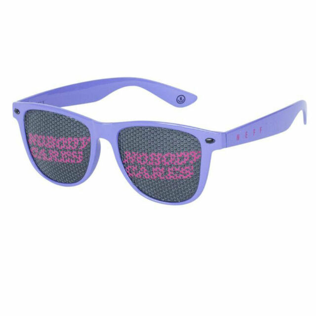 Neff Men's Daily Lens Print Shades Sunglasses Violet/Nobody Cares Accessories
