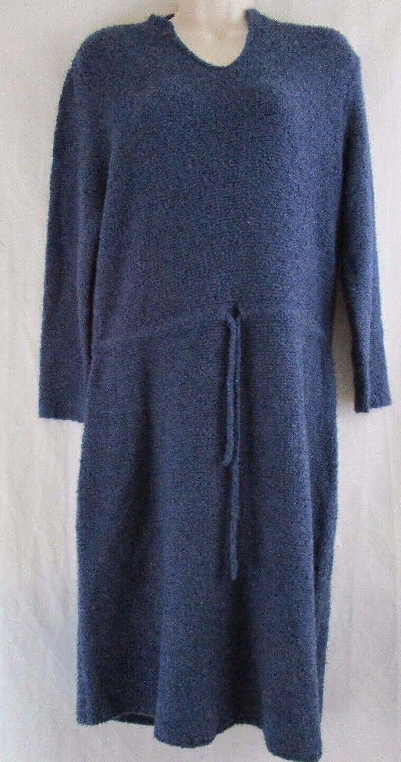 J. McLaughlin Montaine 3 4 Sleeve Notch Collar Tunic Blau Dress Größe L    b6