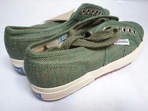 comprare on line 4b70b 46841 Dettagli su Superga Scarpe ginnastica 2750 in LINO verde blu Tempo libero  Sneaker