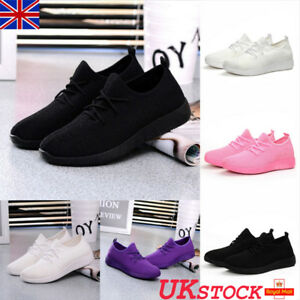 Womens-Ladies-Sneaker-Breathable-Trainers-Gym-Sports-Fitness-Running-Shoes-Size