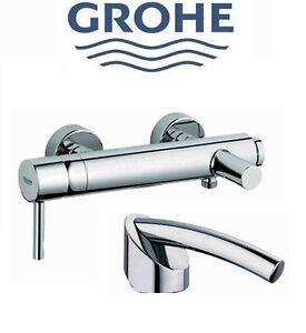 Grohe Tenso 33624000 Wall Mounted Single Lever Bath & Shower Mixer NIB ...