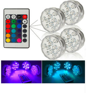 Lights & Lighting Rgb Led Underwater Light Pond Submersible Ip67 Waterproof Swimming Pool Light Battery Operated For Wedding Party Led Lamps