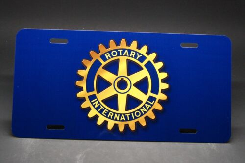 ROTARY INTERNATIONAL CLUB METAL CAR LICENSE PLATE FOR CARS