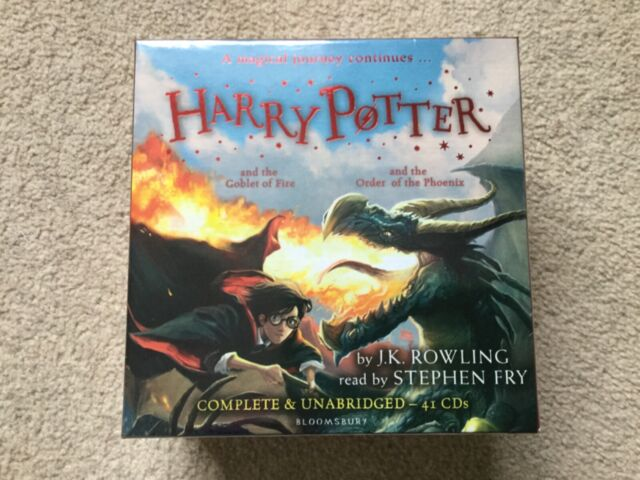 HARRY POTTER audio CD books 4-5 Goblet of Fire, Order of the Phoenix NEW