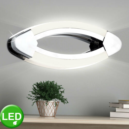 LED Chrom Wand Lampe Gäste Schlaf Zimmer Beleuchtung Design Dielen Leuchte oval