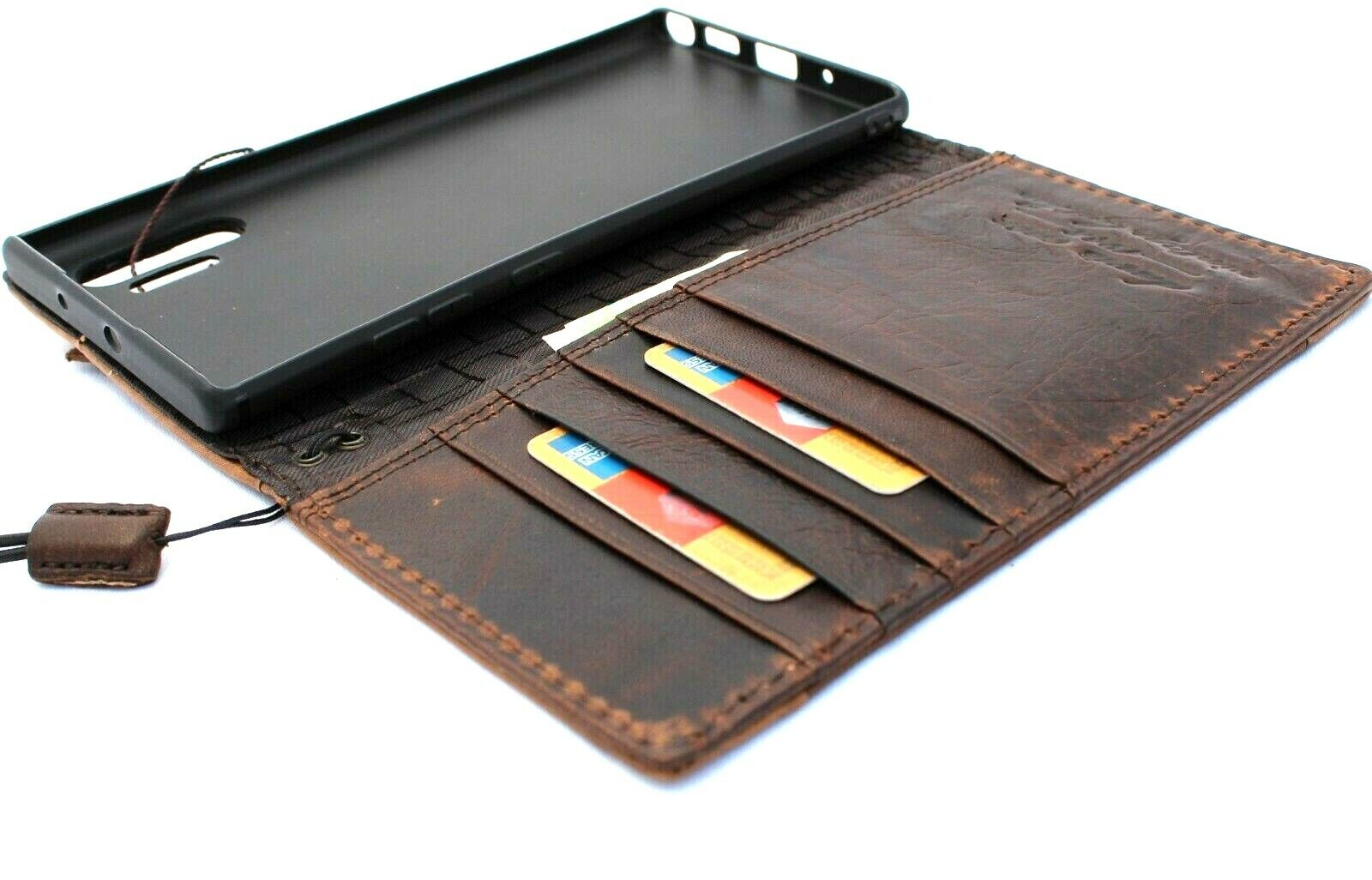 Image 31 - Genuine Leather Case for Samsung Galaxy Note 10 Plus Hand made Cover Book Wallet