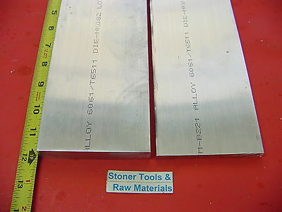 "4 Pieces 1/"" X 1-1//2/"" ALUMINUM 6061 FLAT BAR 7/"" long T6511 SOLID 1.00 Mill Stock"