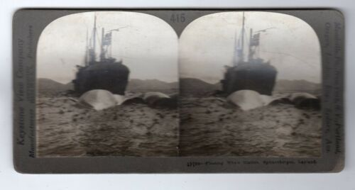 FLOATING WHALE STATION, SPITZBERGEN Stereoscopic photograph C28669