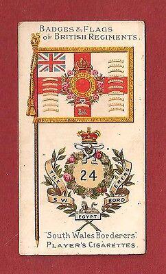 SOUTH WALES BORDERERS  The Howards Greens  Regimental Flag & Badge 1904 original
