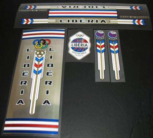 SKU 10167 Vélo LIBERIA Decal Set en vrai Chrome