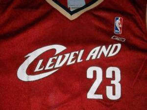 65cf1fbad683 LeBron James 23 Cleveland Cavaliers NBA Red Reebok Jersey Boy s XL ...