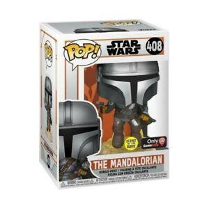 Funko POP! Star Wars The Mandalorian Flying With Blaster Glow GameStop PREORDER
