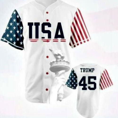 Baseball Jersey Donald Trump 45 USA Baseball Jersey Commemorative Edition