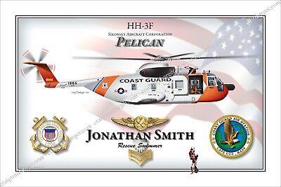 helicopter,HH3F,S61,Pelican,pararescue,Coast Guard,rescue swimmer,USCG,aircraft