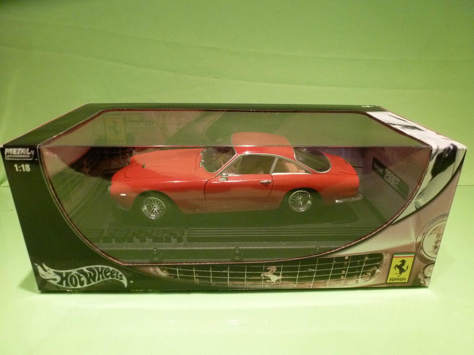 HOTWHEELS B6053  FERRARI 250 GT BERLINETTA 1 18 - RARE SELTEN - NEAR MINT IN BOX
