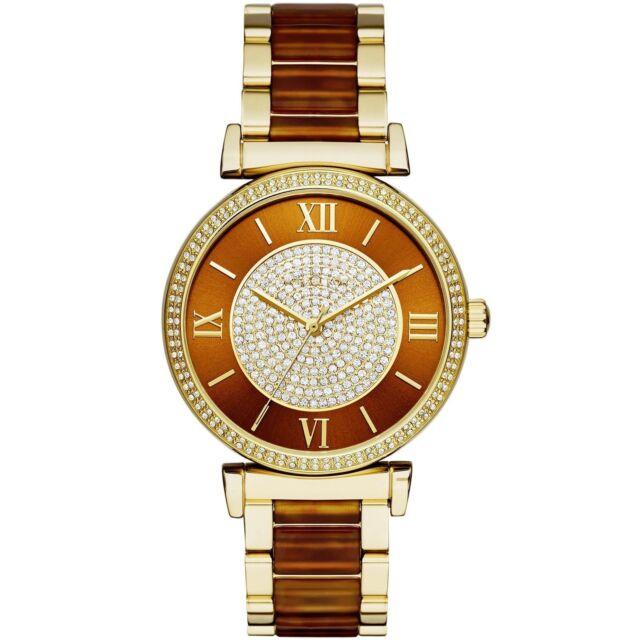 46146188f596 Michael Kors Women s MK3411 Catlin Two-Tone Stainless Steel Gold Tone Watch