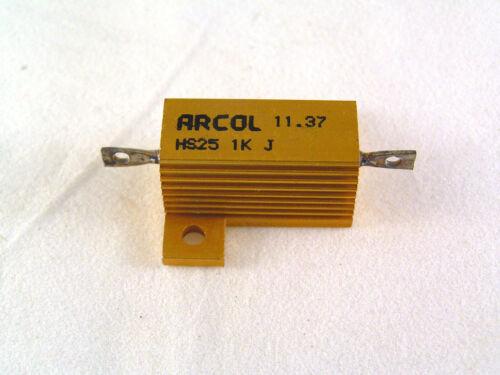 Arcol 25W Aluminium Bardage Résistance Bobinée Gamme 0R1 À 10K Ohms Rohs OLA2-19