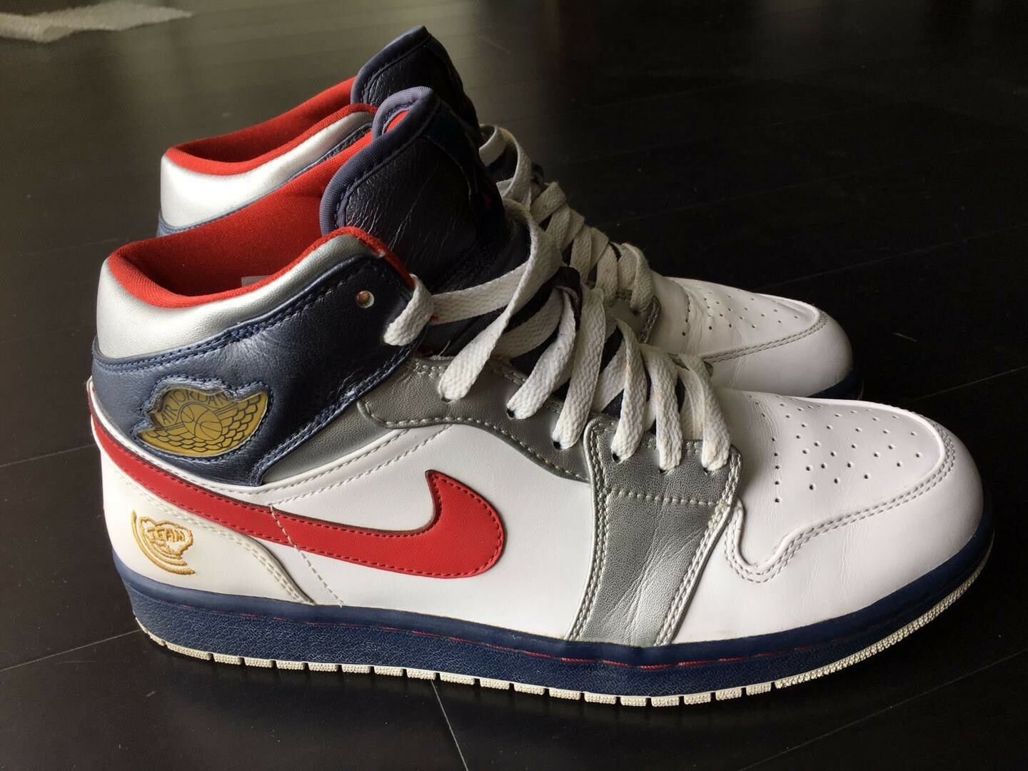 Nike Air Jordan I Retro 1 OLYMPIC White Red Blue Gold 136085-161 Sz 10 44 Rare The latest discount shoes for men and women