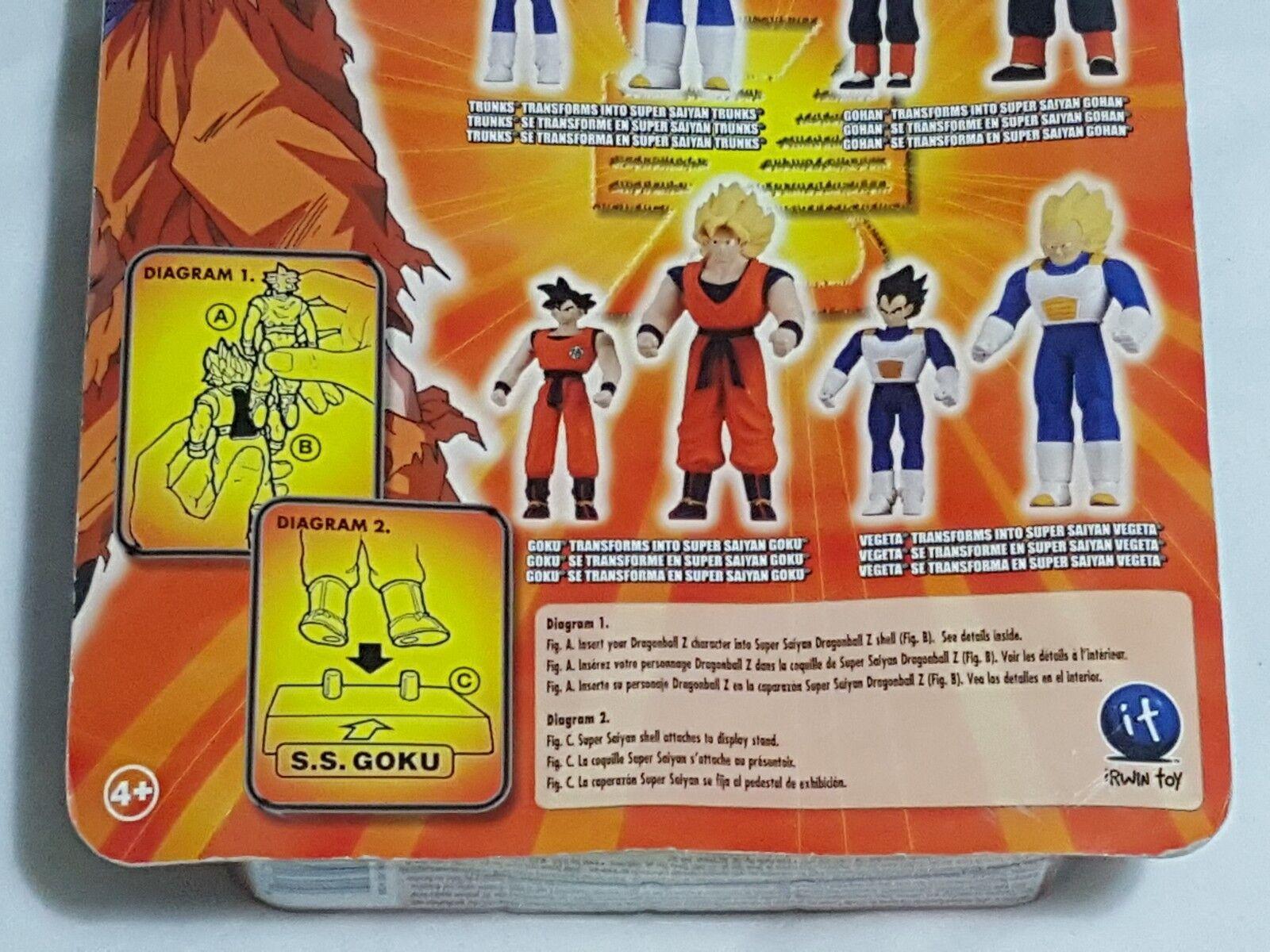 NEW NEW NEW (w Wear) DragonBall Z Secret Saiyan Warriors Goku & S.S. Goku Figures SEALED 9565bf