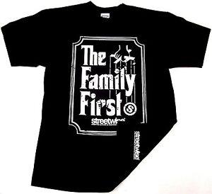 STREETWISE-FAMILY-FIRST-T-shirt-Urban-Streetwear-Tee-Adult-Mens-Black-NWT