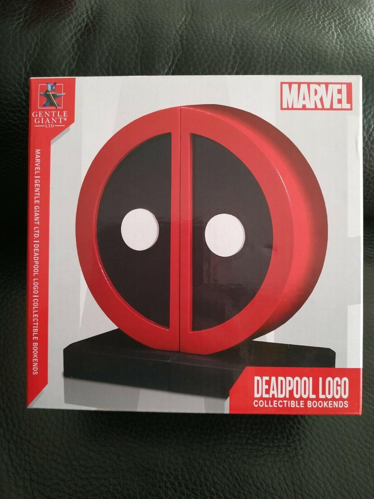 Gentle Giant Deadpool Logo Serre-Livres Statue Neuf Scellé