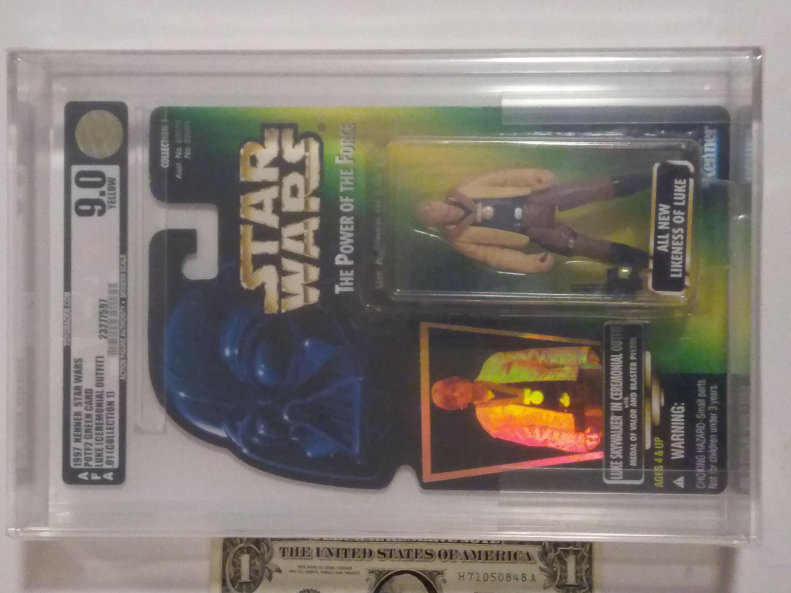 AFA 9.0 Star Wars Luke Ceremonial outfit 1997 POTF2 hard to find collection 1