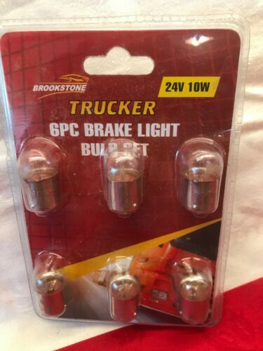 Sealed Pack 6 x 246 Lorry 24v 10w Sidelight Stop Tail Bulb Genuine Unipart Truck