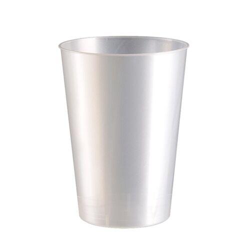 Einweg-Trinkbecher aus Plastik PS 10 Stück 230ml Perlmutt-Weiß