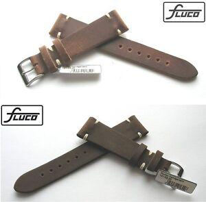 FLUCO-Manufaktur-Uhrenarmband-Rodeo-Vintage-Handmade-20-16-mm-Cognac-od-Mokka