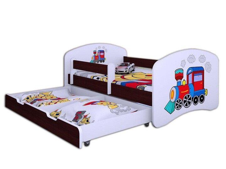 Toddler Enfants Lit Simple + Autocollant + tiroir + matelas