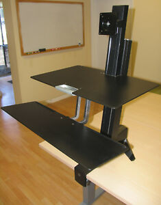 monitor beautiful workstation full workfit s awesome desk of size standing dual attachment for
