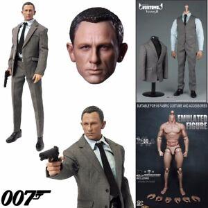 "custom 1//6 scale Daniel Craig Head Sculpt as James bond 007 For 12/"" figure toy"