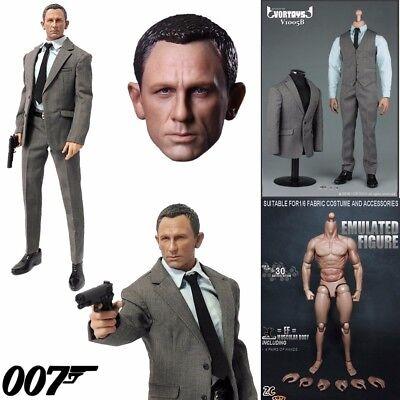 "1//6 Scale ghost Agent 007 James Bond Head Sculpt  F12/"" Male Action"