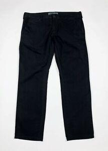 Gaudi pantalone uomo usato W40 tg 54 nero straight gamba dritta boyfriend T6110