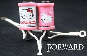 "1.25"" Tattoo Machine 8-32 Coils Pink Washers Custom Hello Kitty Covers White USA"