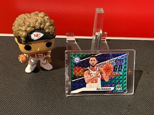 2019-20 Panini Mosaic Ben Simmons Give and Go Green Mosaic Prizm #2 76ers