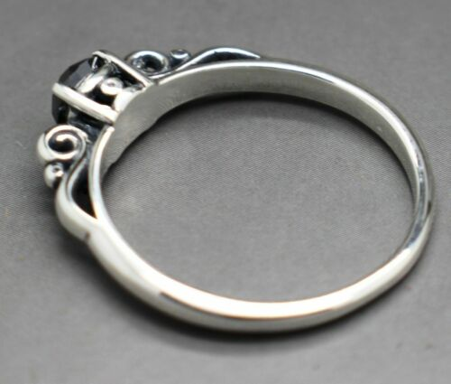 .50cts to .65cts Real Natural Black Diamond Scroll Ring AAA Grade /& $450 Value