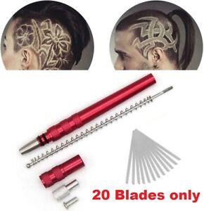 20x in lega da parrucchiere intaglio PENNE Lama Rasoio Rasoio per capelli fai da te stile Confezione da 20