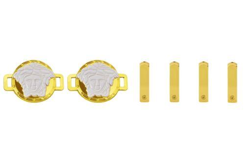 MEDUSA HEAD FASHION PREMIUM DUBRAES LUXURY METAL LACE LOCKS TAGS SHOE CHARMS