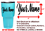 YOUR-TEXT-Vinyl-Decal-Tumbler-Sticker-Window-Bumper-CUSTOM-Personalized-Cup-Name thumbnail 2