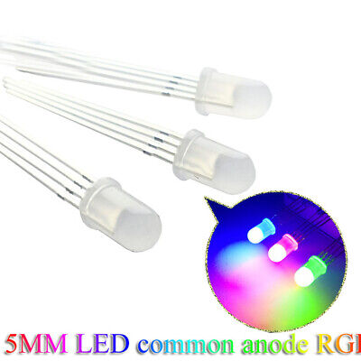 5mm 4-Pin Tri-Color RGB Diffused Common Anode Red Green Blue LED Leds 1000pcs