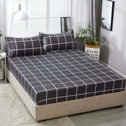 Fitted Sheets Bed Sheet Bedspread Protect Mattress Bedding Cover Home Textile