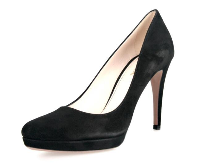 ef36a7feabe Authentic Luxury PRADA PUMPS Shoes Suede 1IP079 Black US 9 EU 39 39 5 UK 6