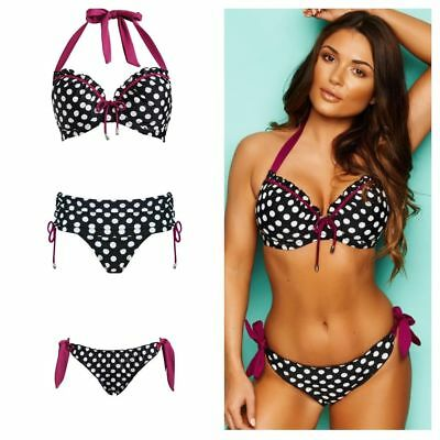 Womens Starboard Padded Halter Underwired Top Bikini Pour Moi