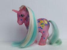 My Little Pony G1 Vintage Blue Hearts Dazzleglow Variant